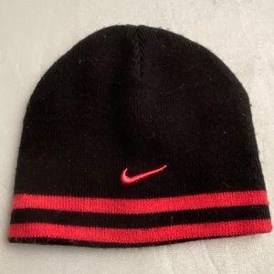 Nike reversible pink/black knit hat